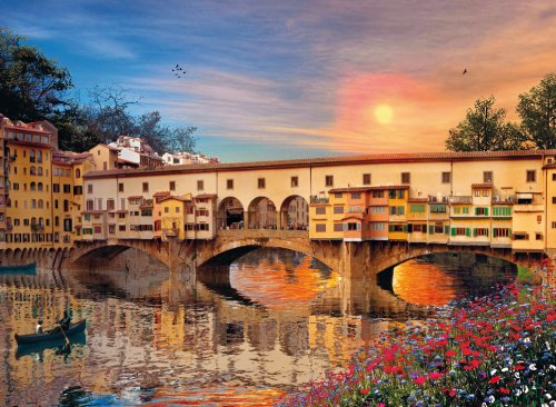 Clementoni - 39220.9 - Puzzle Collection Romantic Italie - 1000 Pièces - Florence