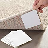 CAheadY 4 Stücke Klebstoff Anti-Rutsch-Vlies Teppich Mat Tape Aufkleber Greifer Boden Paste White