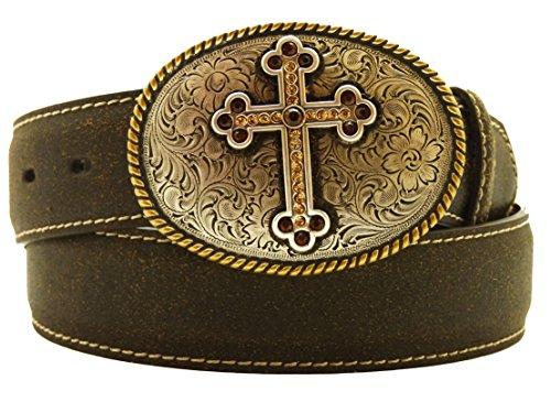 Nocona USA Western Gürtel Ancient Cross braun (XL) (Nocona Gürtel Braun)