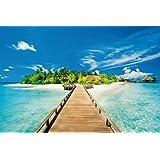 Póster de playa de isla de vacaciones de verano