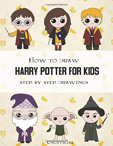 How To Draw Harry Potter For Kids - Step By Step Drawings:
