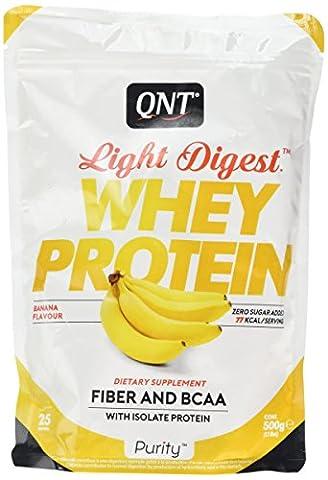 QNT Light Digest Whey Protein Supplement, 500 g, Banana