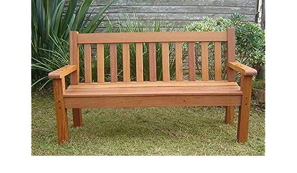 Shilpi Brown Teak Wood Patio Garden Benches Design 3
