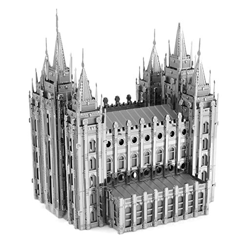 Metal Earth Fascinations ICONX SALT LAKE CITY TEMPLE 3d Metall puzzle, Konstruktionsspielzeug, Lasergeschnittenes Modell
