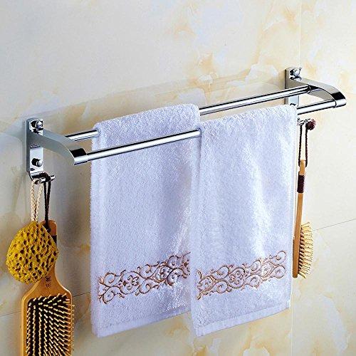 XXTT-In acciaio inox bagno portasciugamani, multifunzionale, con gancio portasciugamani doppio, accessori bagno di cromo , 500mm