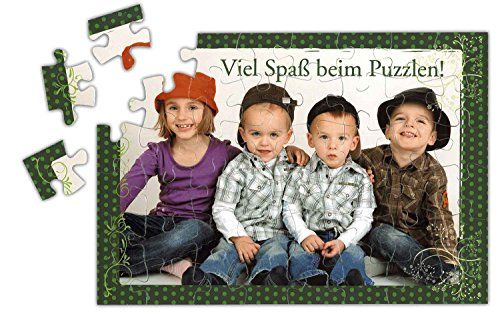 Dogidogs Puzzle mit Ihrem eigenen Foto, Bild, Fotopuzzle 35, 70 oder 96 Teile, Größe A4, Kartonpuzzle - Foto Puzzle