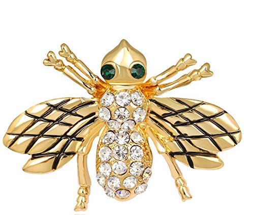 rer Tier Goldene Bienen Dek Frauen Brosche/Herren Brosche Anzug Brooch / Hochzeit Dekoration/ Geburtstags Geschenk Pin,1 Stuck (Strass Halloween-pins)