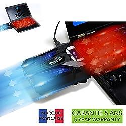 TAKIT Refroidissement pour PC portable - VERSION 2019 - GARANTIE 5 ANS - Extracteur d'Air Chaud USB - 4200RPM