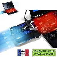 Takit S01 - Refrigerador para portátil con ventilador de vacío (refrigeración rápida a 3500 RPM, Detección de temperatura automática, 3500 RPM, Conexión USB, Compatible con bases de refrigeración)
