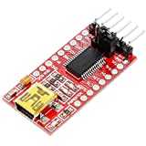Anpro Adapter FT232RL USB zu TTL Serielles Adaptermodul Mini TE203 für 3,3V und 5V