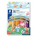 STAEDTLER matite colorate Noris, confezione da 36 colori con mine anti-rottura (sistema ABS), 144 ND36