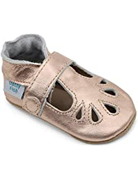 34e172f751e417 Dotty Fish Soft Leather Baby Shoes. Non Slip Suede Sole. Classic Red