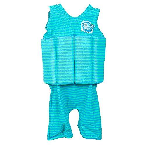 Splash About Jungen Short John Float Anzug, Blau Lagune, M, SJBL2, 2-4 Jahre (Reißverschluss Short John)