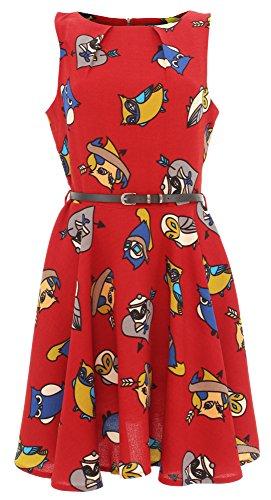 Motif :  tATTOO aRT cutie robe robe 4564 Rouge - Rouge