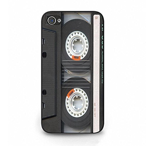 Iphone 4/4s Magnetic Tape Shell Cover,Personality Cusom Music Tapes Phone Case Cover for Iphone 4/4s Cassettes Cool Color101d