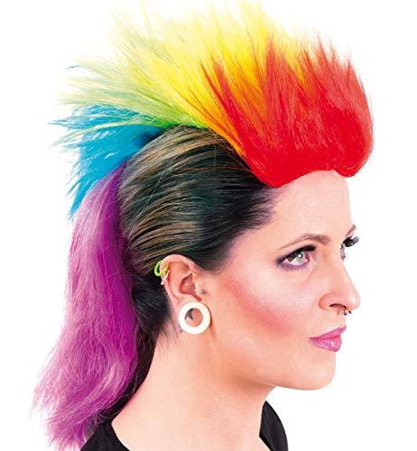 Unbekannt Perücke Punker Einhorn Irokese Regenbogen
