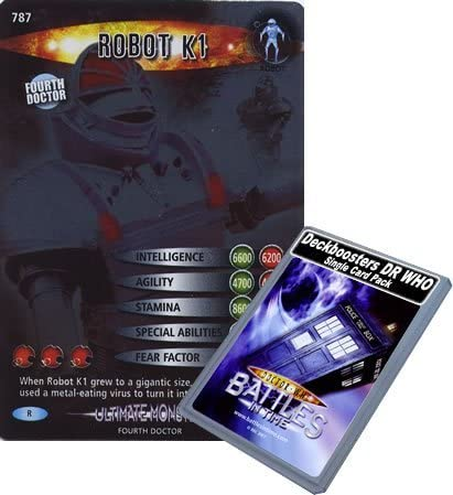 Doctor Who - Single Card : Ultimate Ultimate Ultimate Monsters 187 (787) Robot K1 Dr Who Battles in Time Rare Card by Deckboosters c1d21d