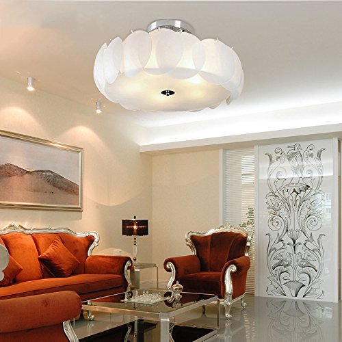 HBA LED-runde Deckenleuchte, Deckenleuchte Schwarz/Weiß moderne Deckenleuchte Wohnzimmer Leuchten Leuchten Innenbeleuchtung (Größe: 45 cm) mit LED