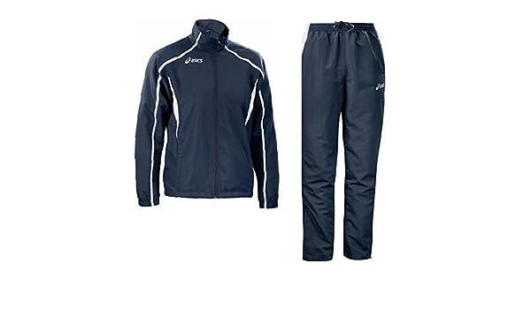 e6dad79169 ASICS Tuta sportiva uomo giacca zip + full pantaloni EVENT bianco blu  T772Z5: Amazon.it: Sport e tempo libero