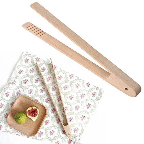 SKJZLLL Küchengeräte Gadgets Bambus Holz Holz Food Toast Zange Toaster Speck Zucker EIS Tee-Zange Salat Clip Rosle Gadgets