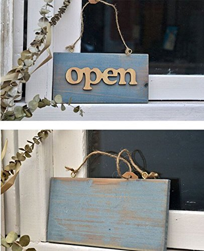 Abierto/cerrado cuerda texto Welcome Sign puerta placas