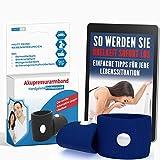 Akupressur Armband gegen Übelkeit - Ideal für Schwangerschaftsübelkeit, Seekrankheit, Reiseübelkeit (Blau) + E-Book: So werden Sie Übelkeit sofort los!