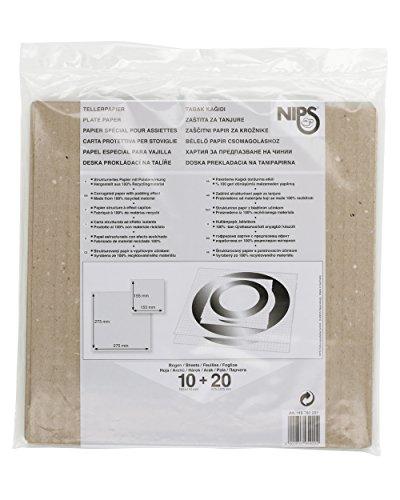 NIPS 118780201 Tellerpapier 30er Set / strukturiertes Papier mit Polsterwirkung, Set mit 30 Bogen