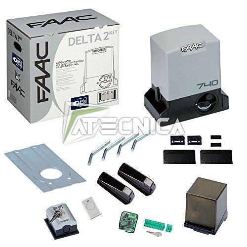 Schiebetor-Set von FAAC, DELTA 2 KIT, 1056303445 Automatisierung, 500 kg, 230 V -