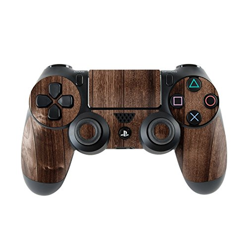 Skins4u Sony Playstation 4 Skin PS4 Controller Skins Design Sticker Aufkleber Styling Set auch für Slim & Pro Aufkleber Styling Set auch für Slim & Pro -Stained Wood