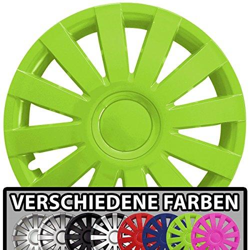 (Farbe & Größe wählbar!) 15 Zoll Radkappen AGAT (Grün) passend für fast alle Fahrzeugtypen (universal)