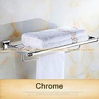 tougmoo stile vintage in ottone massiccio bagno Asciugatore asciugamano porte-plateau dorato modello intagliato po 82312, Grigio