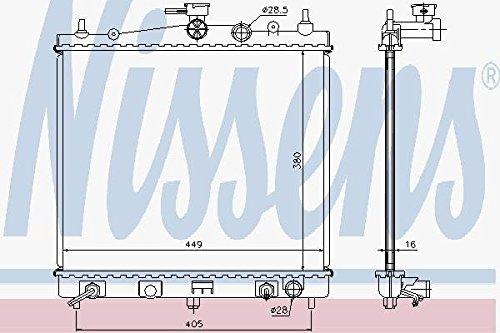 Nissens 68700A Kühler, Motorkühlung