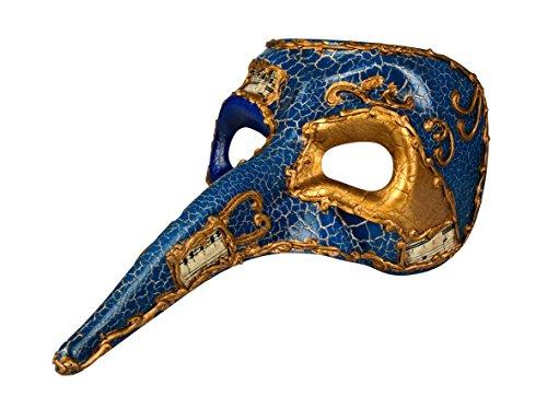 Rote Lange Nase Venezianische Maske - Boland, 00342,Venedig-Maske mit