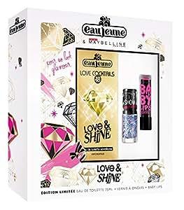 EAU JEUNE Coffret Love Cocktails Love & Shine, Eau de Toilette 75 ml + Vernis ColorShow + Baby Lips MAYBELLINE