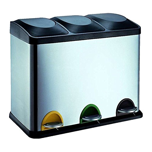 Protenrop Ecol-Trio - Cubo basura 3 compartimentos