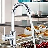 #5: Alton Leo Single Lever Kitchen Mixer Taps Swivel Spout Single Handle Monobloc Kitchen Sink Mixer Tap, 360 Degree Swivel Range Kitchen Taps (Chrome)