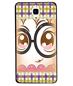 PRINTVISA Pattern with Baby Eye Premium Metallic Insert Back Case Cover for Xiaomi MI4 - D5763