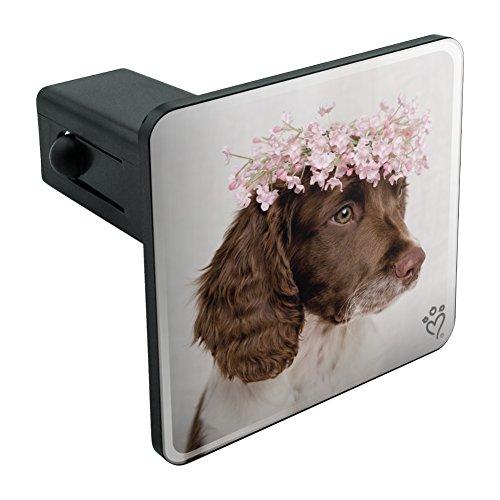 Graphics and More Springer Spaniel Dog Blume Blossom Tiara Tow Anhängevorrichtung Schutzhülle Plug Insert 11/10,2cm (3,2cm) (Platte Springer Spaniel)