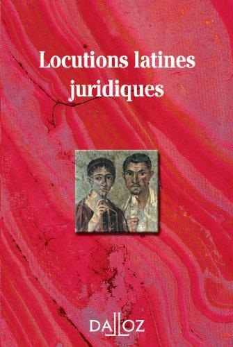 Locutions latines juridiques par Collectif
