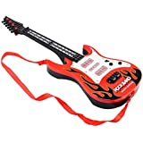 CLAP N TAP RockBand Musical LED FLASHING LIGHT Instrument Guitar Toy ForYoung Dashing Dynamic Young Guns Kids Boys ,IDEAL FOR GIFT , Rock Band Musical Guitar For Kids Available In 2 Sizes And Diffrent Colours (929 GITAR BIG RED, BIG)