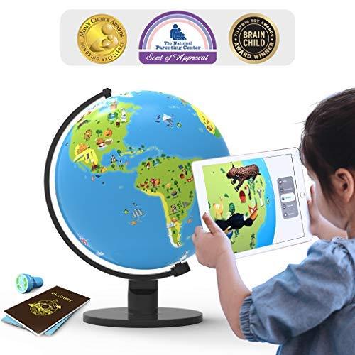 PlayShifu Shifu Orboot: Giocattolo educativo, basato sulla Realtà Aumentata, per Ragazzi e Ragazze, età da 4 a 10 Anni, Regalo Ideale per Bambini (Senza Bordi o Nomi sul Globo)