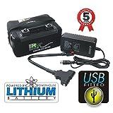 BATERIA DE LITIO CON CABLE DE CONEXION Y USB PARA CARRITO DE GOLF 12V 18 HOYOS LiFePo4 POWERHOUSE
