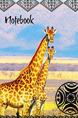 Notebook: Safari Giraffe Homework Book Notepad Notebook Composition and Journal Gratitude Diary Gift