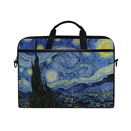 cb4e2ecd7cbd JSTEL Van Gogh Starry Night Sky - Funda bandolera para ordenador portátil  de 14 a 15,6 pulgadas con correa ajustable para el hombro