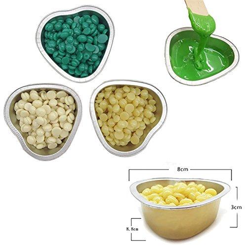 haosshop 5x Wachs Bohnen Schmelzschale Aluminium Film Heizung Schüssel für Haarentfernung Wachs Perlen (nur Schüssel)