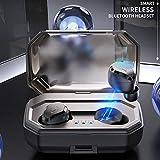 Wireless Headset Bluetooth 5.0, Tiefen Bass True Sports Wireless in-Ear, Sweat Proof Kopfhörer Integriertes Mikrofon für Running, Geschenk-Box (Schwarz)
