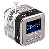 Andoer Mini Digital Music portatile di MP3 / 4 Player Micro SD / TF USB Speaker Disk Radio FM