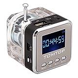 Andoer Mini-Digital-beweglicher Musik-MP3/4 Player TF USB Disk Lautsprecher FM Radio-Schwarz