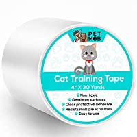 Pet Mob Cat Scratch Deterrent Tape - Anti-Scratch Cat Training Tape- Double Sided Carpet Protector Pet Tape for Carpet, Furniture, Couch, Door