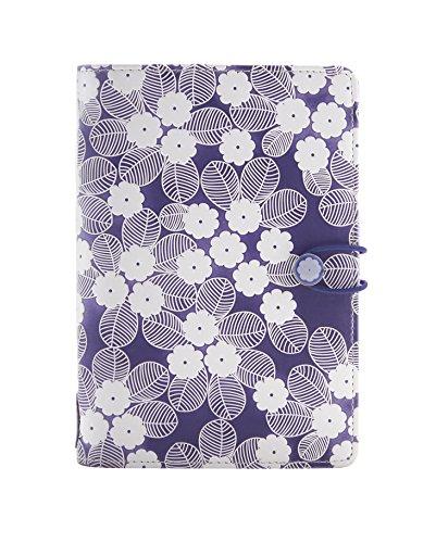 Filofax Impressions Personal Purple/Weiß 23mm Gummibandverschluß Terminplaner A6 Organiser 028709